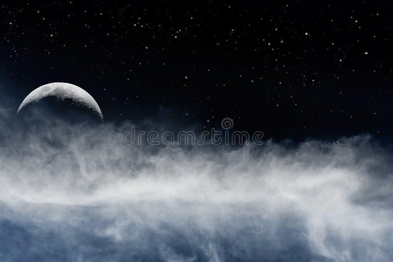 月亮和Fogbank 库存图片