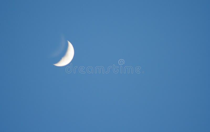 月亮在天空的天 免版税库存图片