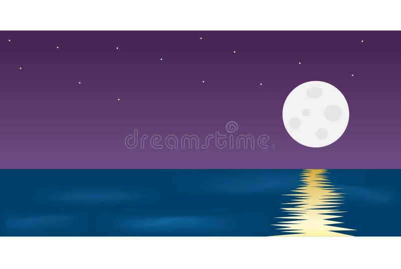 月亮在晚上 免版税库存图片