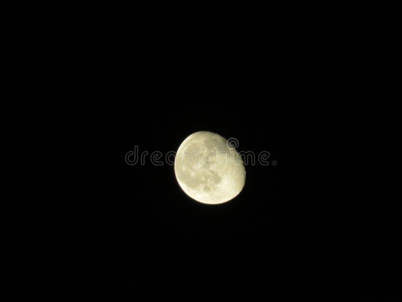 月亮在清楚的夜 免版税库存照片