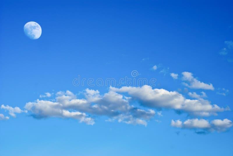 月亮天空 免版税库存照片