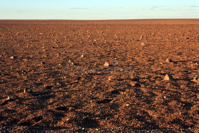 月亮平原脱离储备Coober Pedy南澳大利亚 库存图片