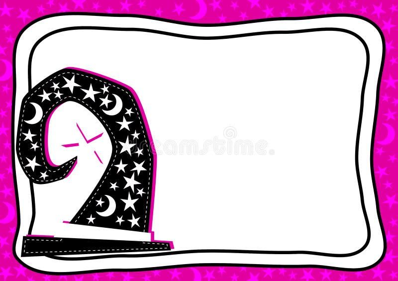 月亮担任主角边界框架卡片 库存例证