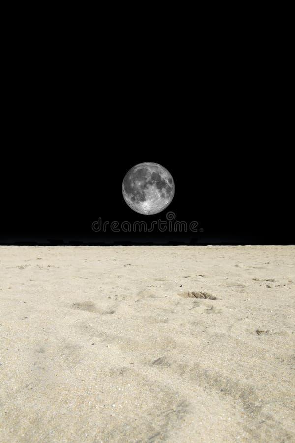 月亮撒哈拉大沙漠 图库摄影