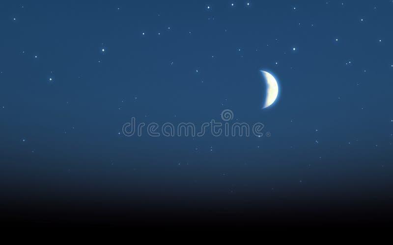 月亮星形 库存例证