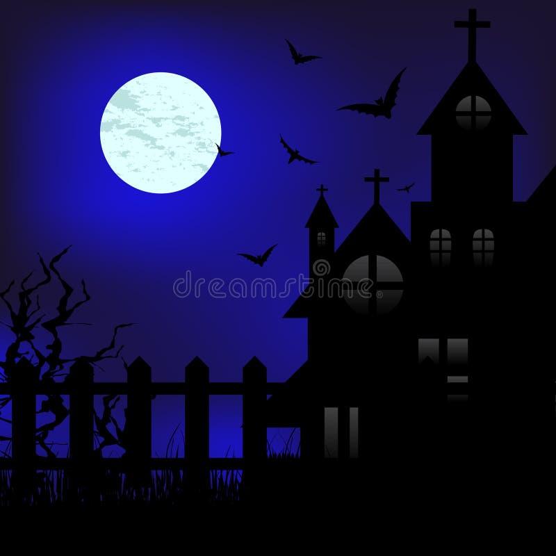 月亮晚上 皇族释放例证