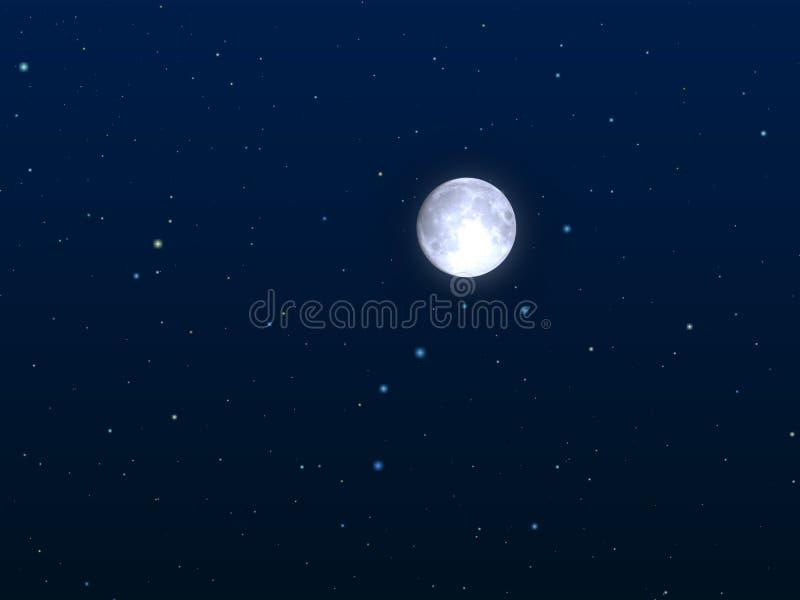 月亮晚上 向量例证