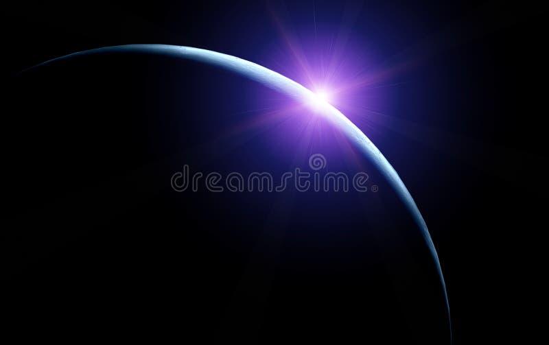 月亮朝阳 库存例证