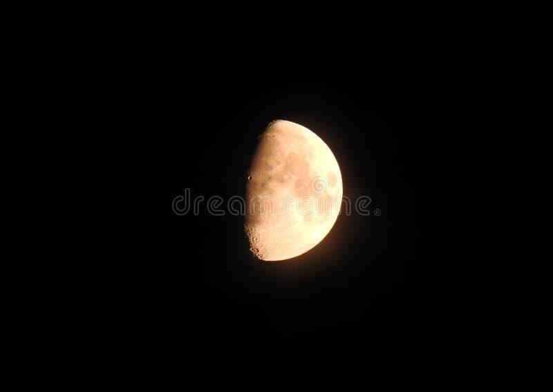 月亮照片隆起阶段打蜡 免版税库存图片