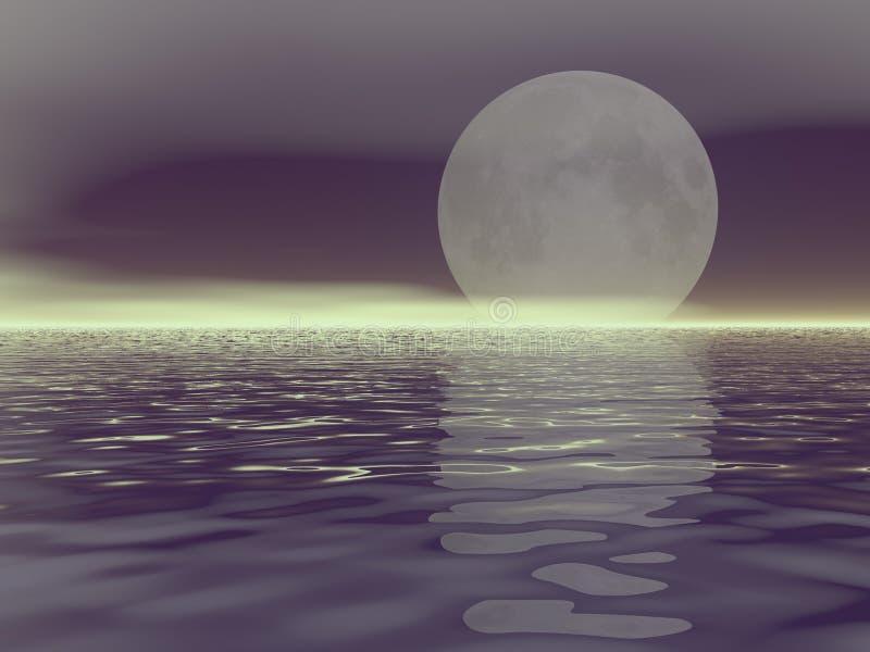 月亮白色 库存例证