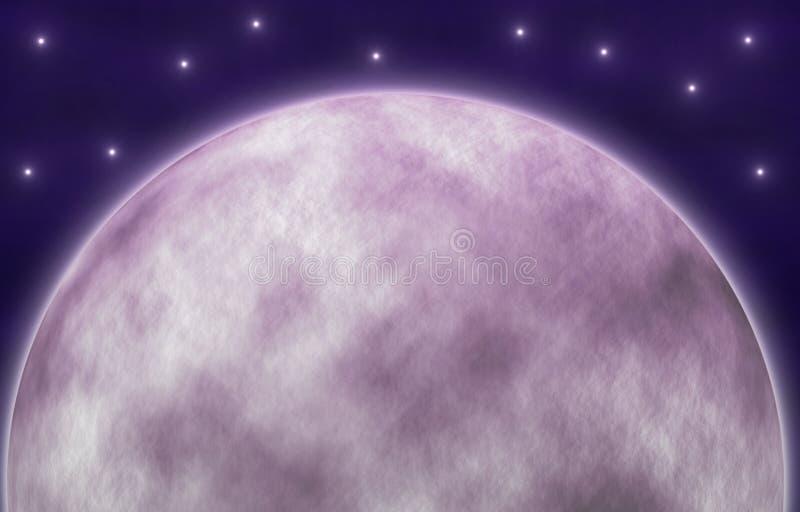 月亮的例证与星的 库存例证