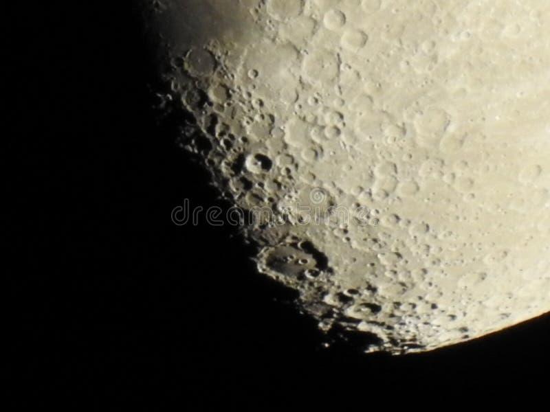 月亮的特写镜头 免版税库存图片