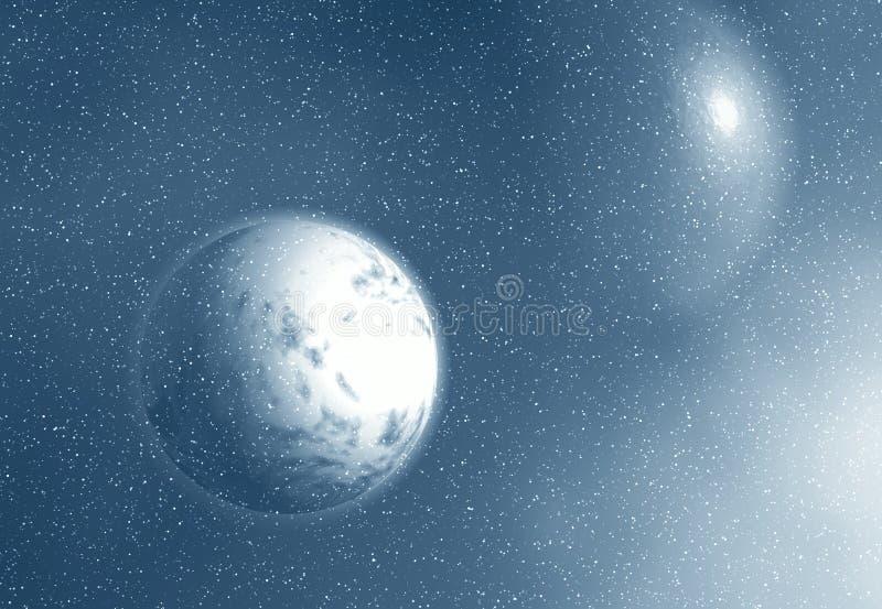 月亮空间 向量例证
