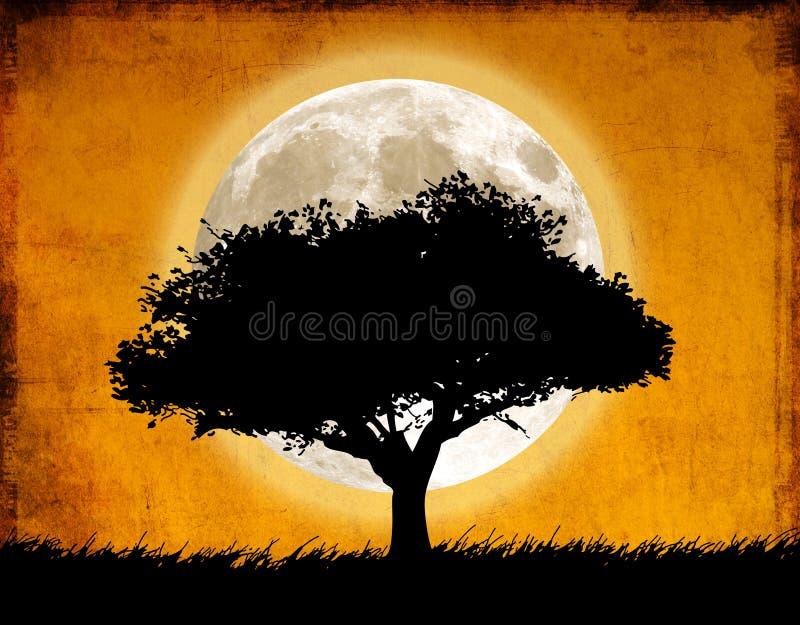 月亮结构树 皇族释放例证