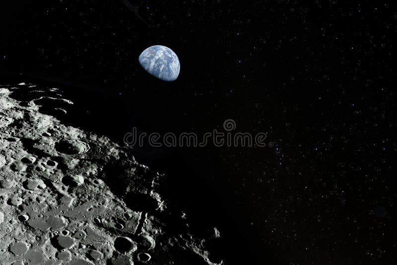 月亮表面 库存照片