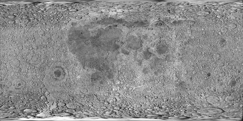 月亮表面 皇族释放例证