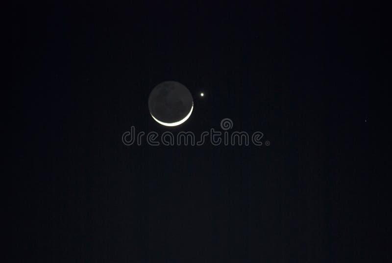 月亮金星 库存图片