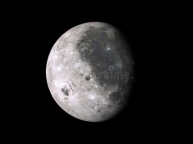 月亮阶段打蜡 免版税库存照片