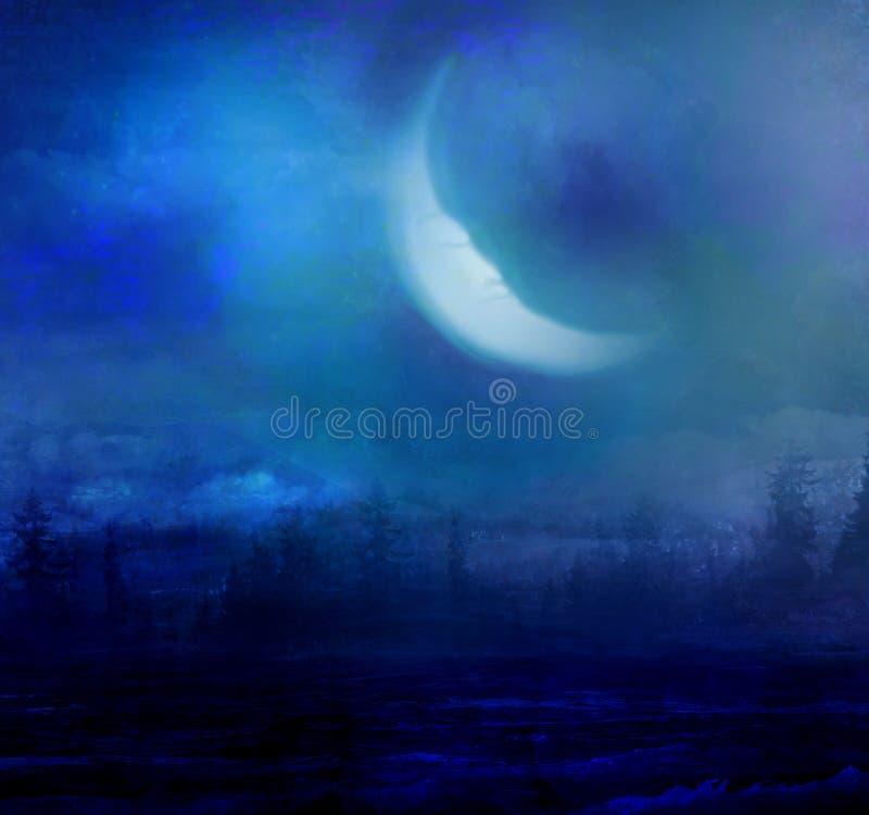 月亮风景的难看的东西图象 库存例证
