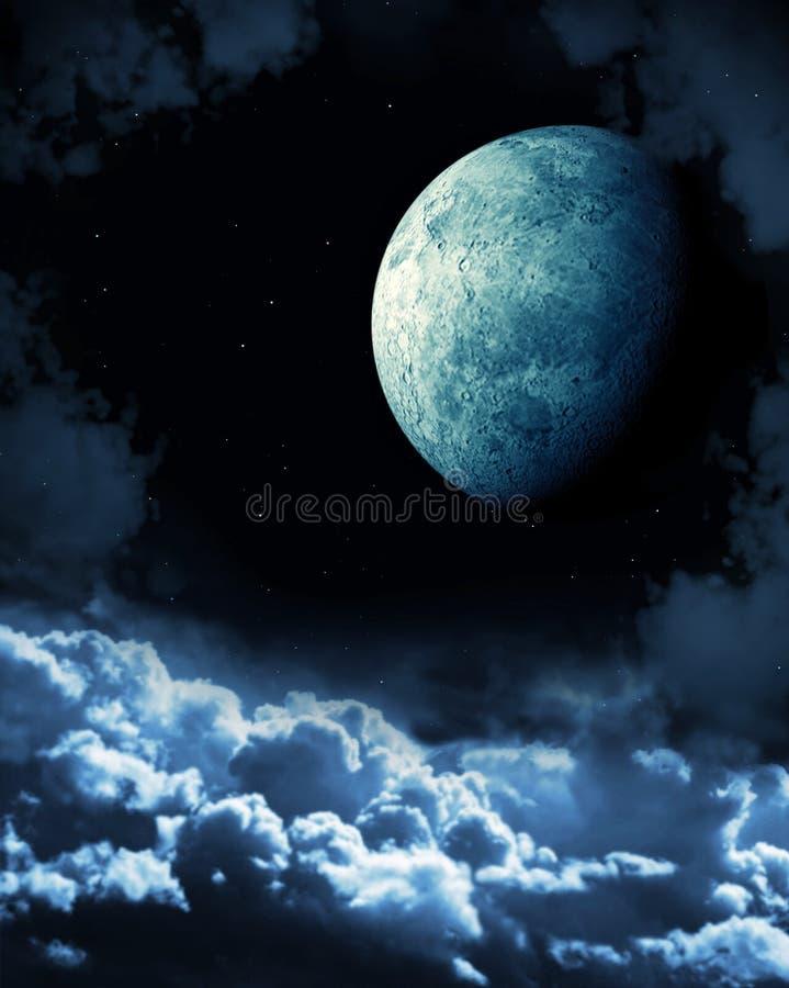 月亮 皇族释放例证