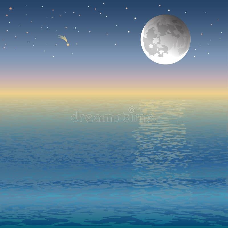 Download 月亮 向量例证. 插画 包括有 阳光, 展望期, 日出, 晒裂, 横向, 天空, 日落, 浪漫, 光芒, 海浪 - 30338520