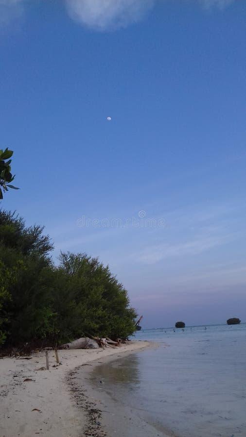 月亮pari海岛 免版税库存图片
