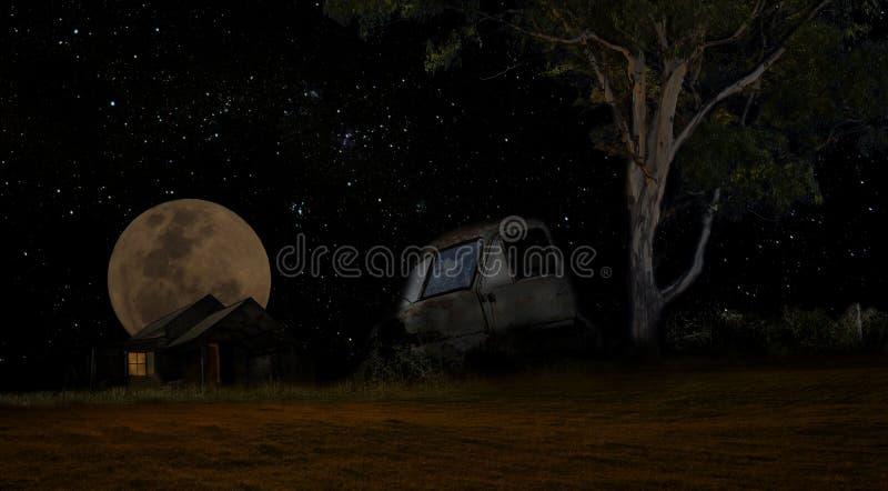 月光卡车 库存照片