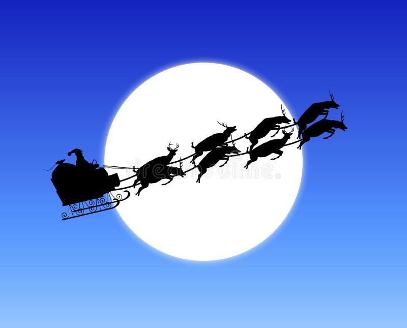 月光圣诞老人 库存例证