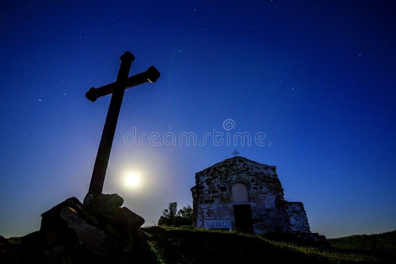 月光教堂  库存照片