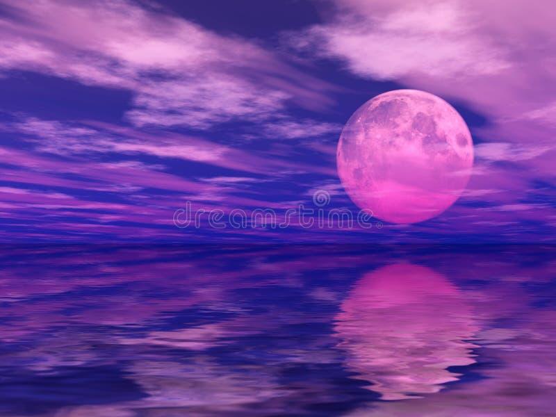 月光 向量例证