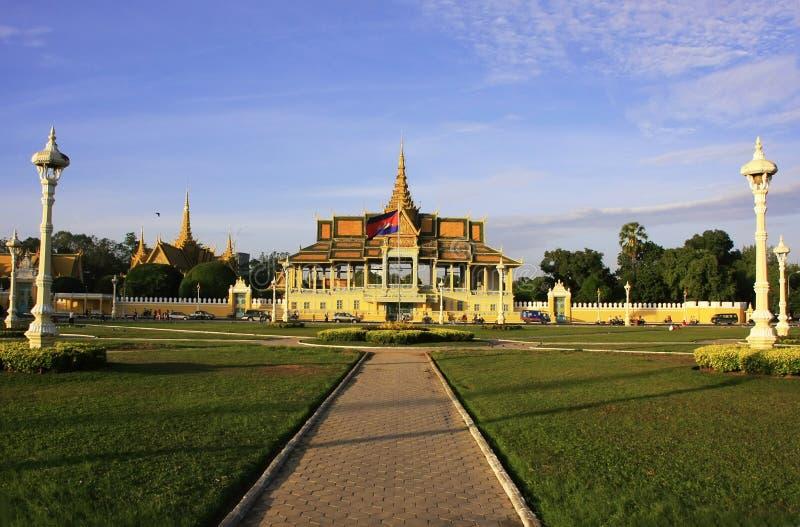 月光Pavailion,皇宫,金边,柬埔寨 免版税库存照片