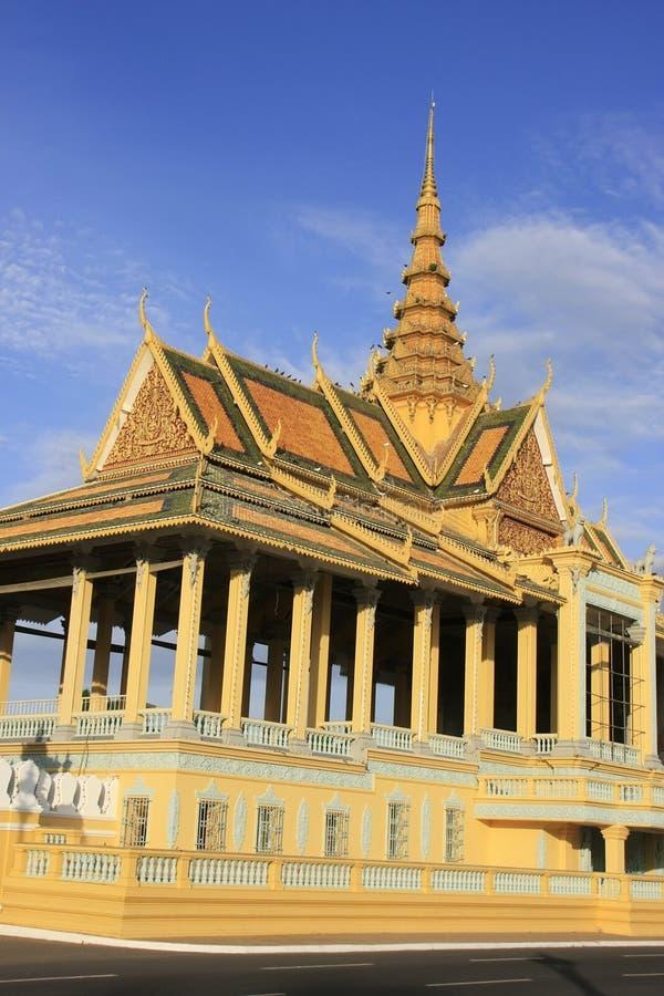 月光Pavailion,皇宫,金边,柬埔寨 免版税库存图片