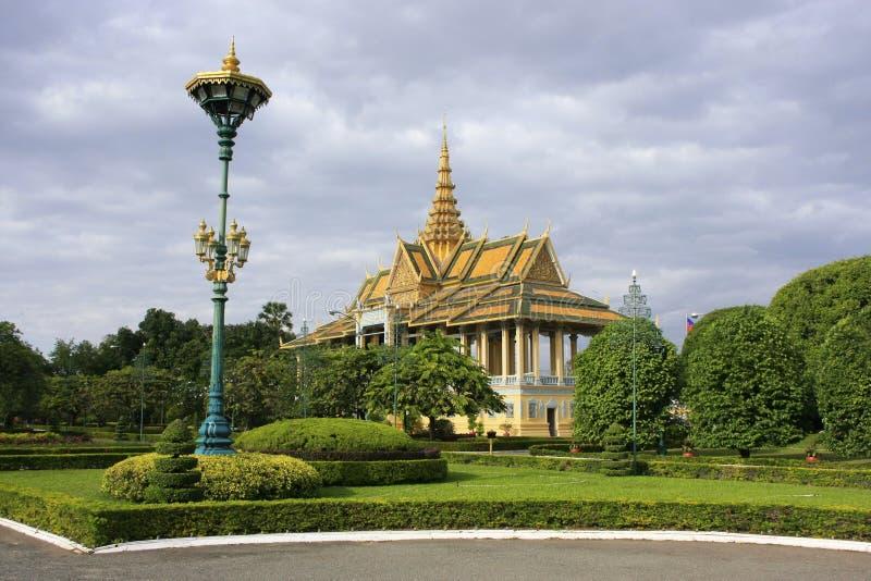 月光Pavailion,皇宫,金边,柬埔寨 库存图片
