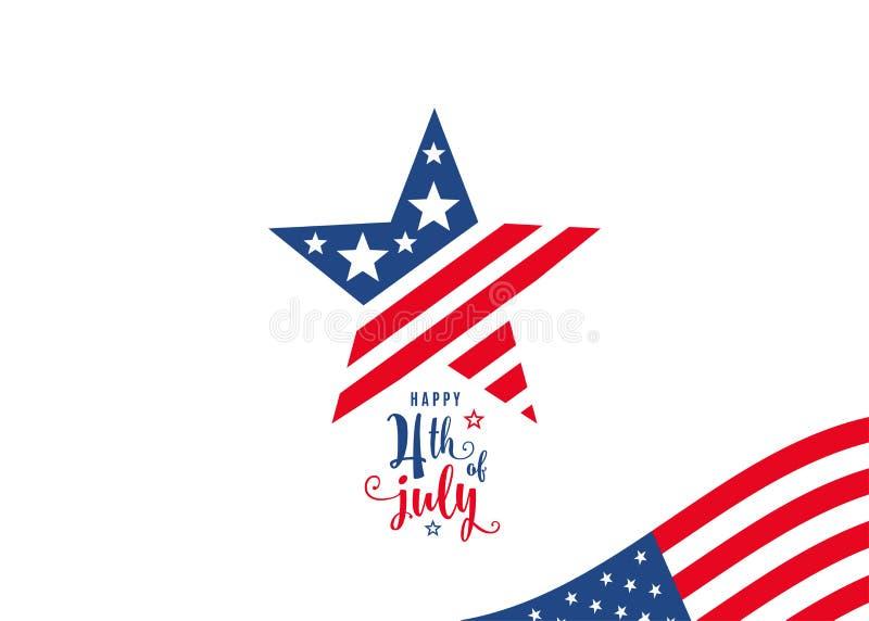 7月四日 第4 7月庆祝假日横幅 向量例证