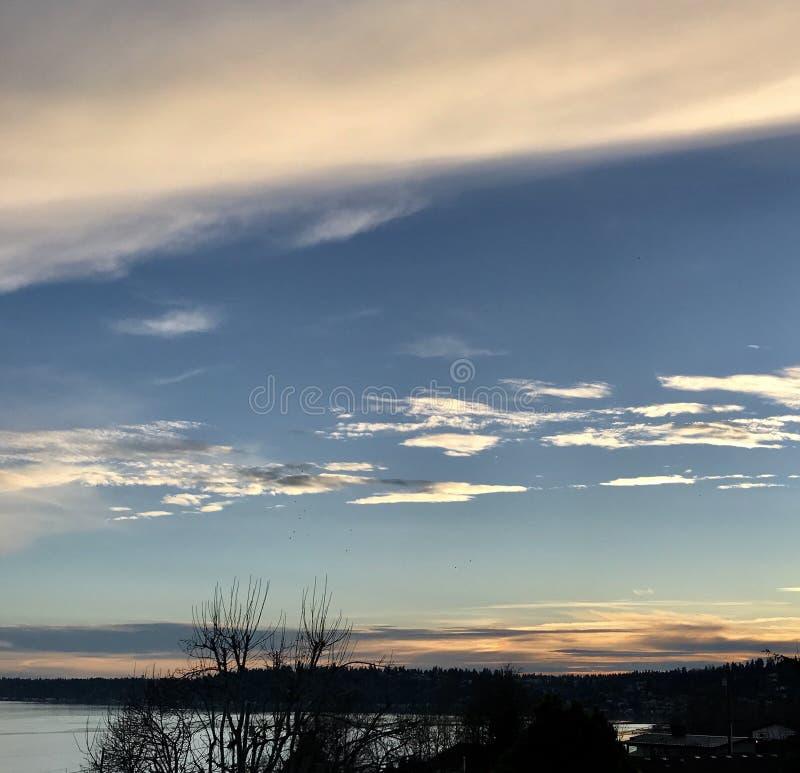 12月天空 库存图片