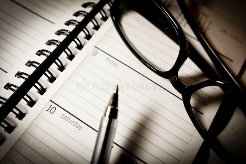 月度计划程序 免版税库存图片