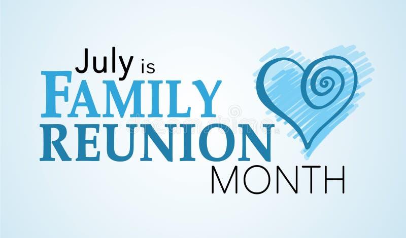 7月是家庭聚会月 向量例证