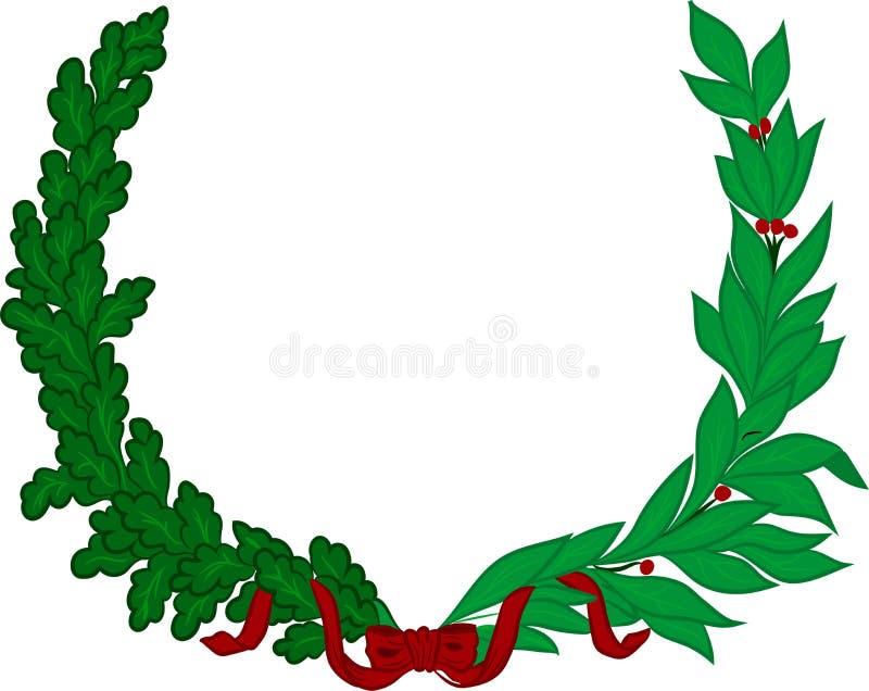 月桂树和橡木分行 皇族释放例证