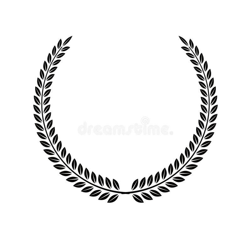 月桂树花圈花卉象征 纹章学徽章装饰lo 库存例证
