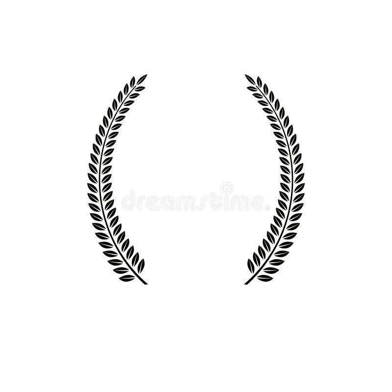 月桂树花圈象征 纹章学徽章装饰商标被隔绝的传染媒介例证 皇族释放例证