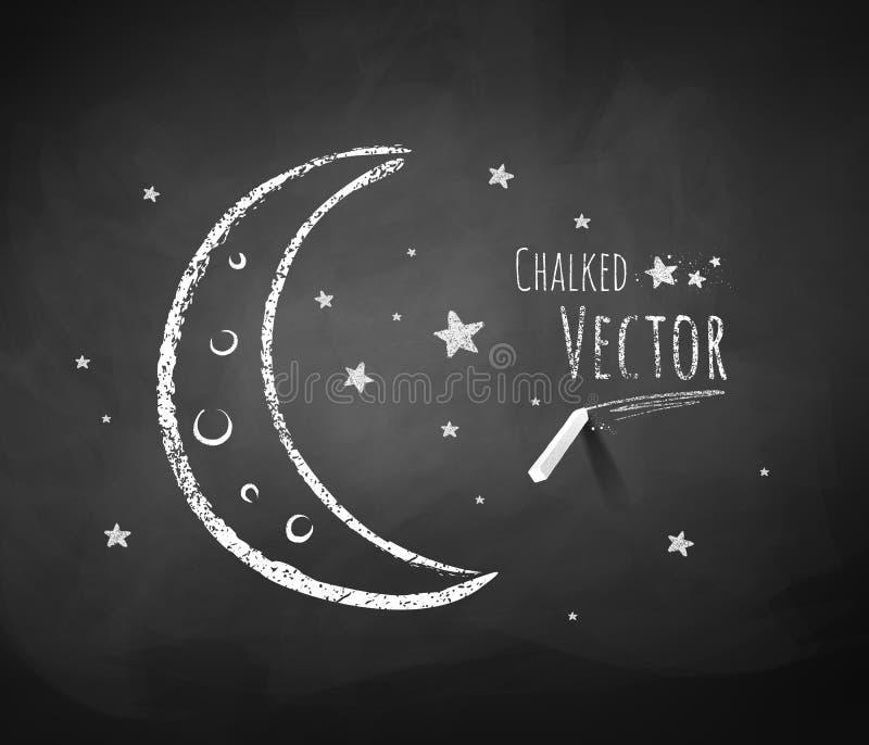 月牙和星 向量例证