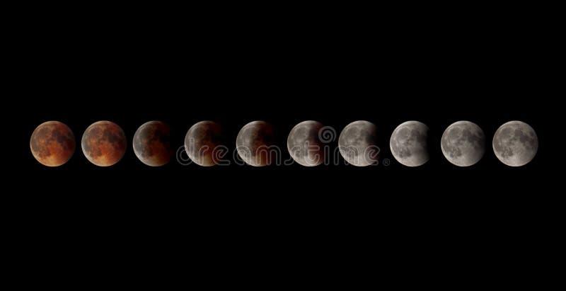 月球的蚀 免版税库存图片