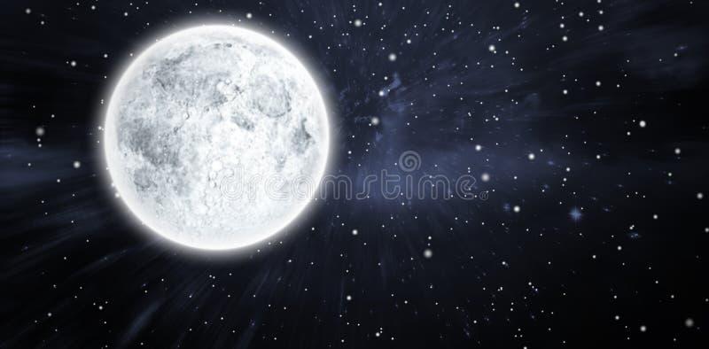 满月的综合图象 免版税库存照片
