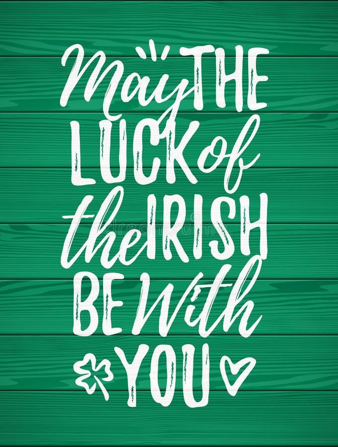 5月运气爱尔兰语是与您 向量例证
