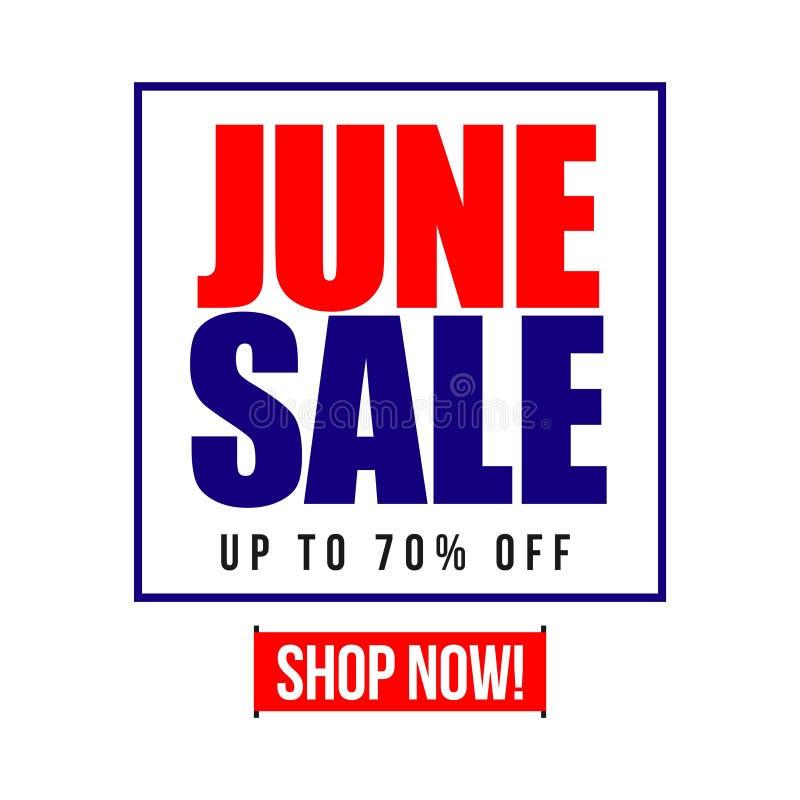 6月销售70%传染媒介模板设计例证 皇族释放例证