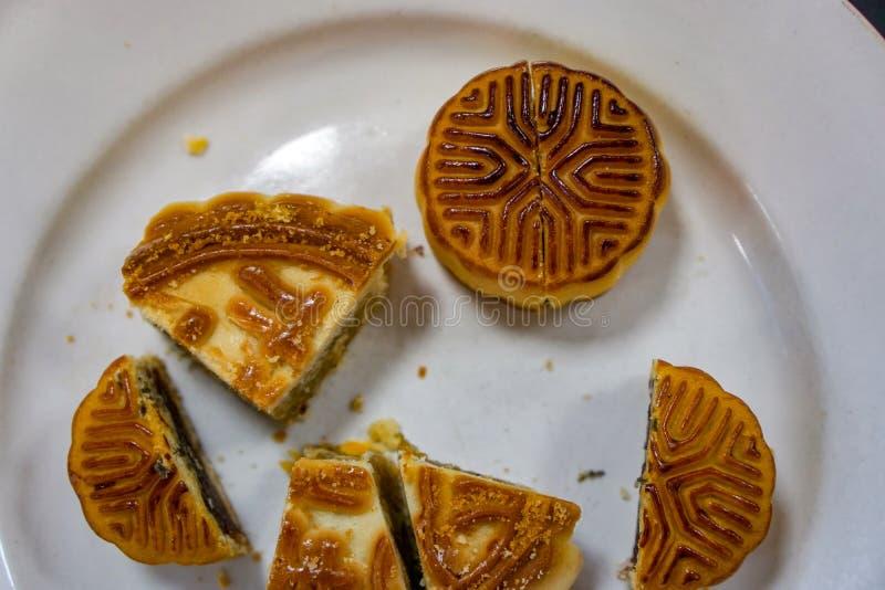 月饼为庆祝中国中秋佳节 免版税库存照片
