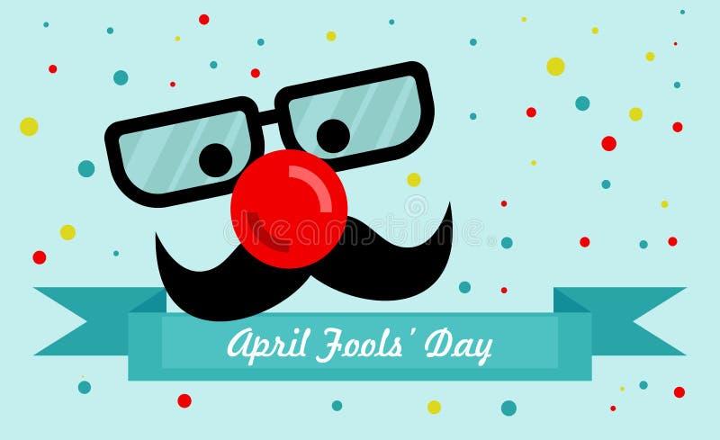 4月鸟蓝色泡影蝴蝶日历唬弄帽子演讲星期日 皇族释放例证