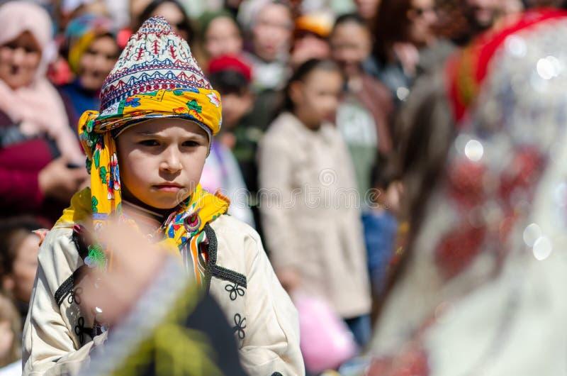 4月23日全国主权和儿童节周年在埃斯基谢希尔/土耳其 库存图片