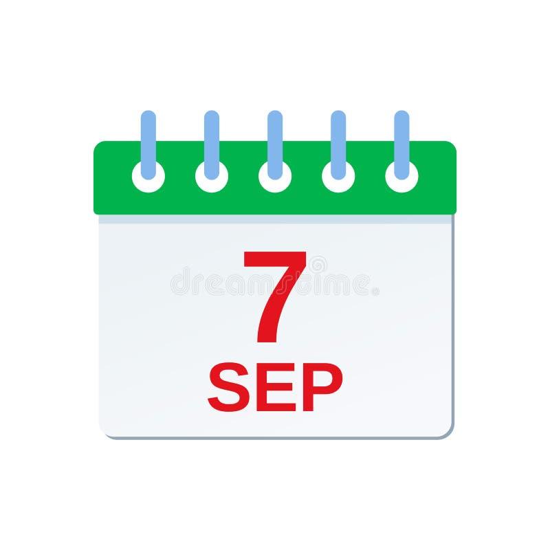 9月7日日历象 巴西美国独立日 r 皇族释放例证