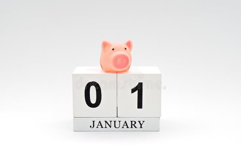 1月1日是第一天新年 免版税库存图片